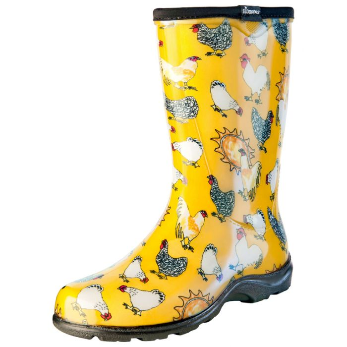 Sloggers Women's Splash Boot Chicken  ] 091053550062P - Flower Power