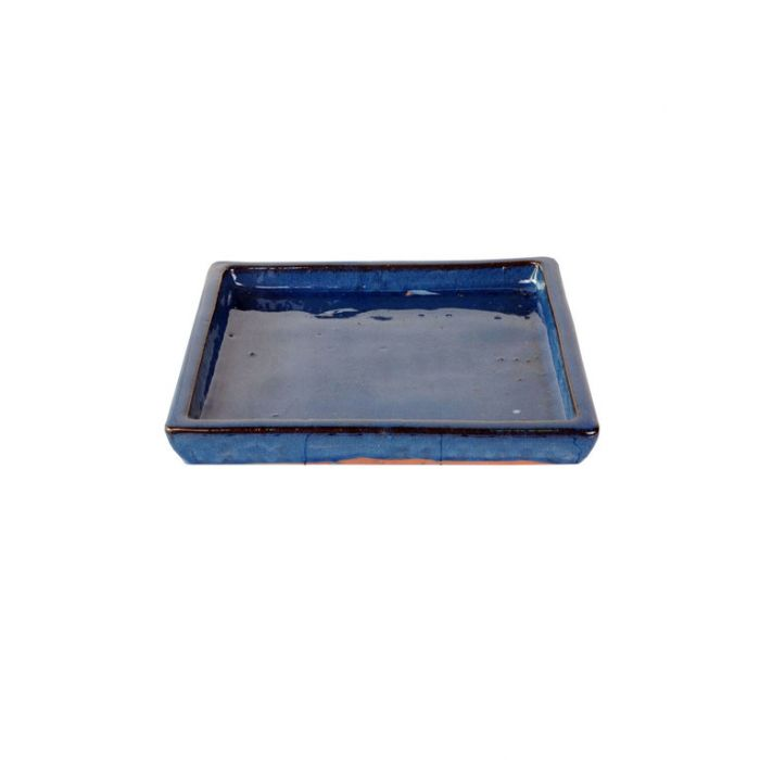 FP Collection Glazed Square Saucer Blue  ] 140440P - Flower Power