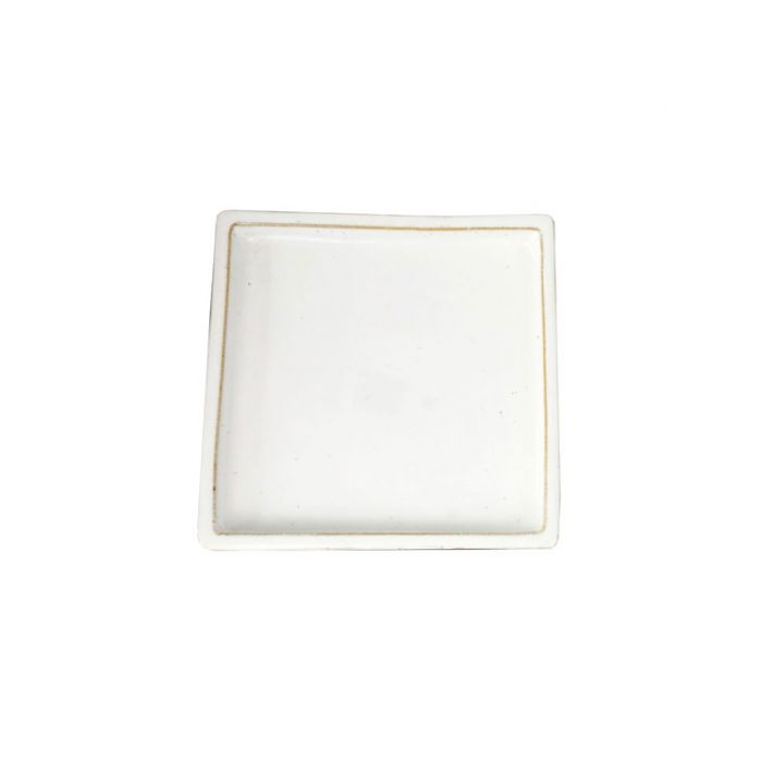 FP Collection Glazed Square Saucer White  ] 142788P - Flower Power