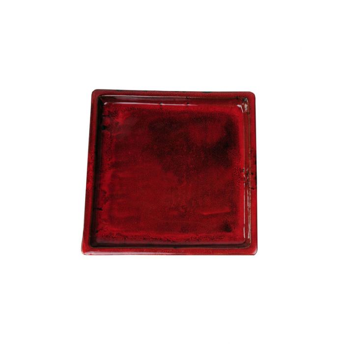 FP Collection Glazed Square Saucer Red  ] 142800P - Flower Power