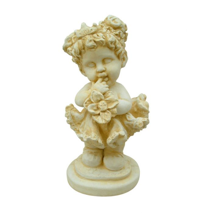 Statue Girl With Flower Basket  ] 148863 - Flower Power
