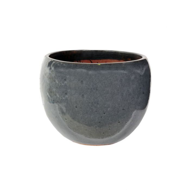 FP Collection Glazed Bowl Pot Grey  ] 156926P - Flower Power