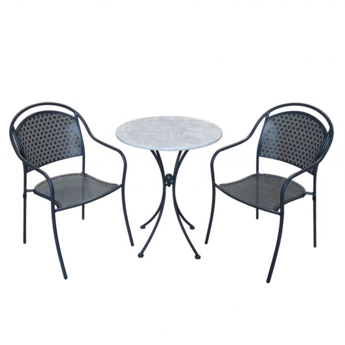 FP Collection Marble Outdoor Dining Setting  ] 166537 - Flower Power