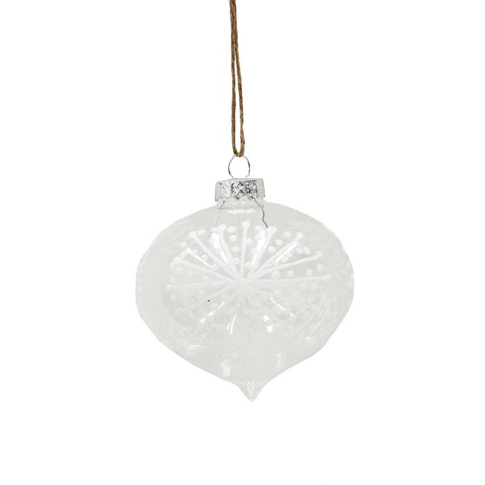 FP Collection Christmas Hanging Bauble White/Clear  ] 169292 - Flower Power
