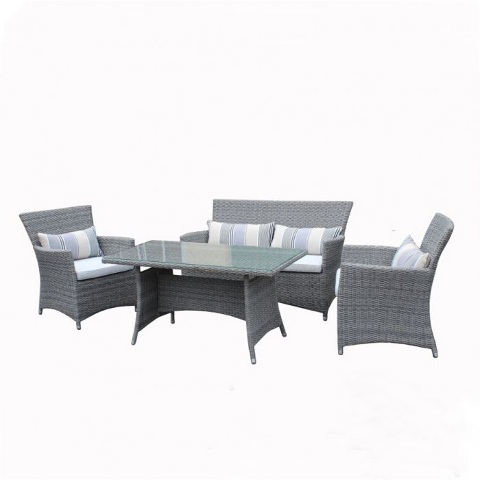 FP Collection Riviera Outdoor Lounge/Dining Setting  ] 169496 - Flower Power
