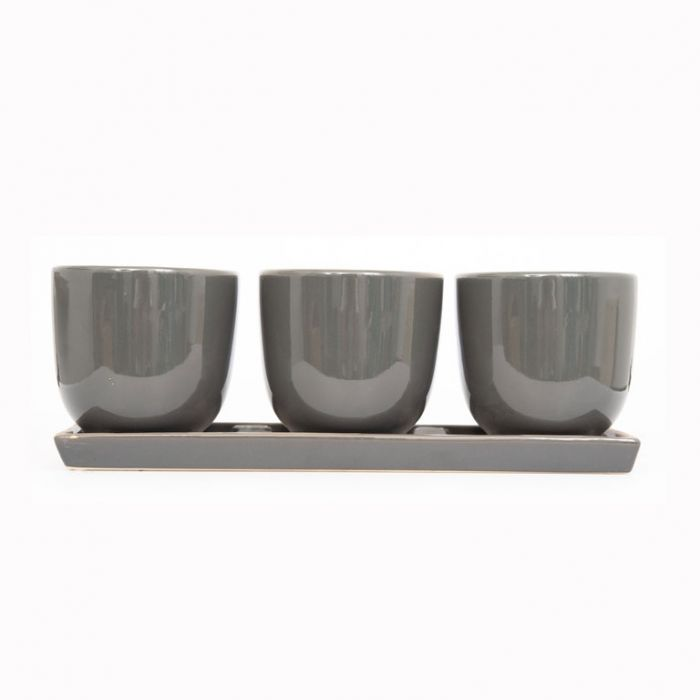 FP Collection Ava Planter Charcoal  ] 172643 - Flower Power