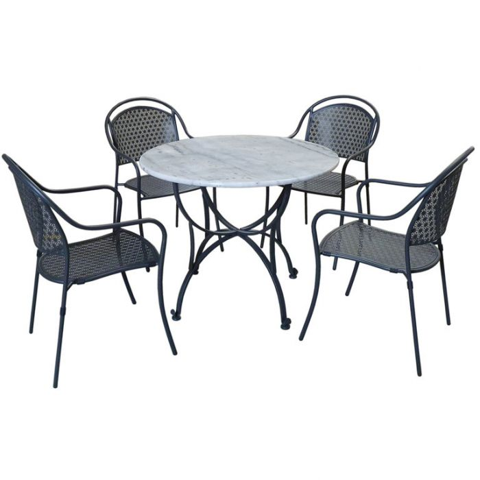 FP Collection Marble Outdoor Dining Setting  ] 172817 - Flower Power