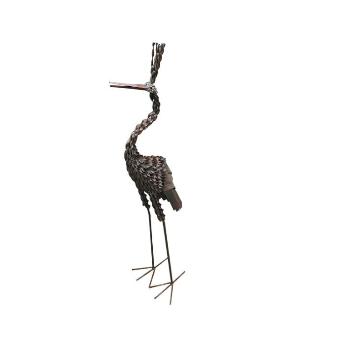 Handcrafted Twisted Crown Crane Statue  ] 173050 - Flower Power