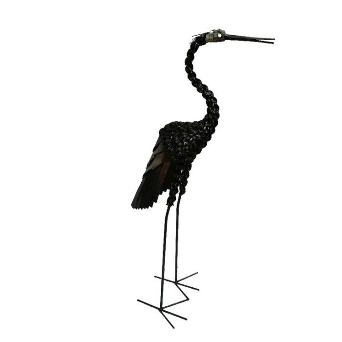 Handcrafted Twisted Heron Statue  ] 173051 - Flower Power