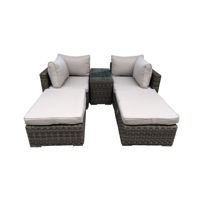 FP Collection Patio Outdoor 2 Seater Sun Lounge Setting  ] 175142 - Flower Power