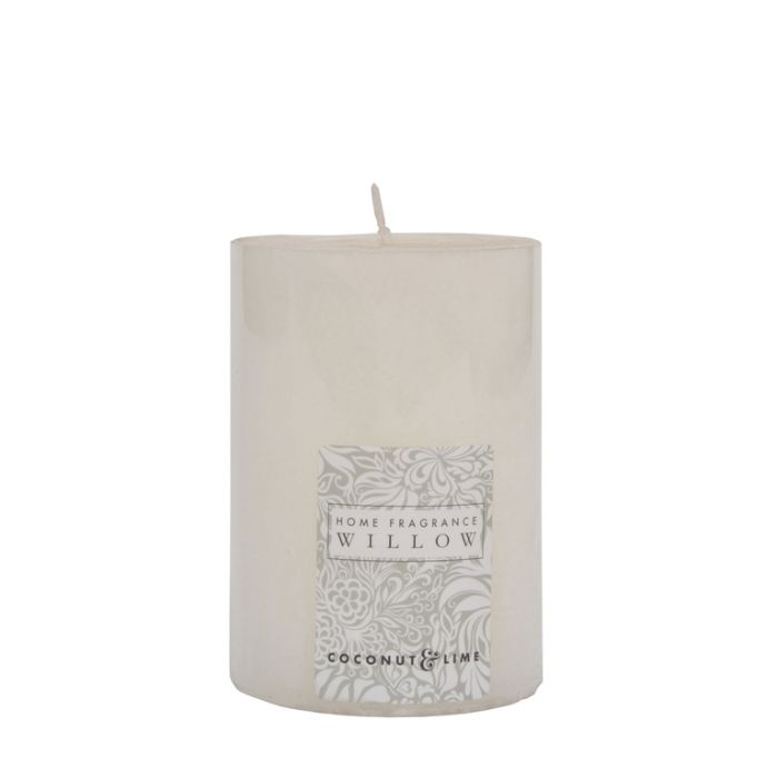 FP Collection Willow Coconut & Lime Pillar 300g Candle Ivory  ] 175416P - Flower Power