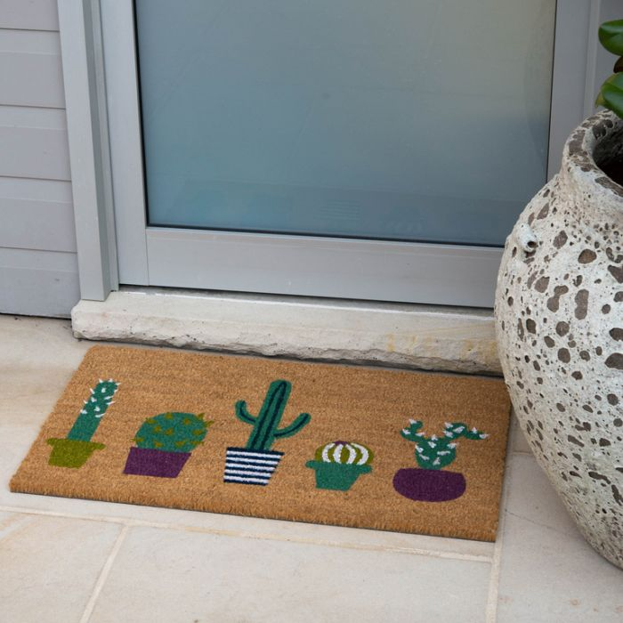 FP Collection Door Mat Cactus  ] 176435 - Flower Power