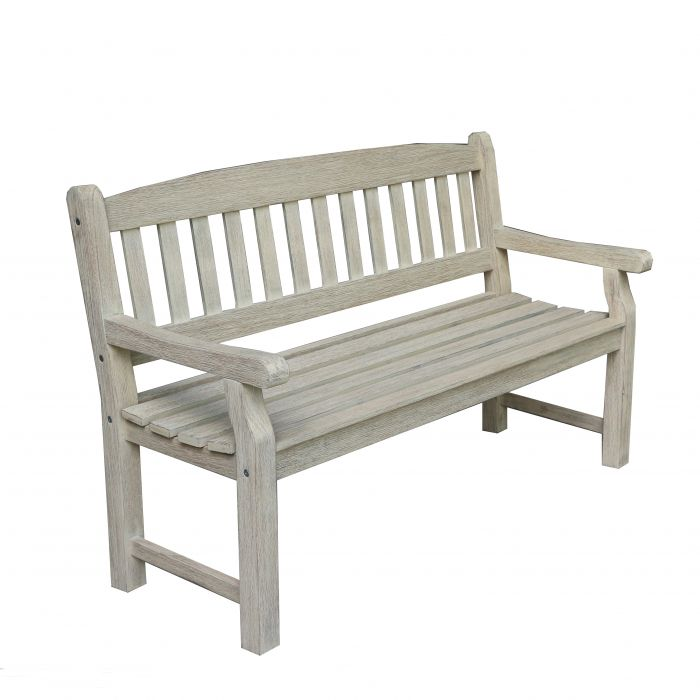 FP Collection Hunter Outdoor 3 Seater White Bench  ] 177273 - Flower Power