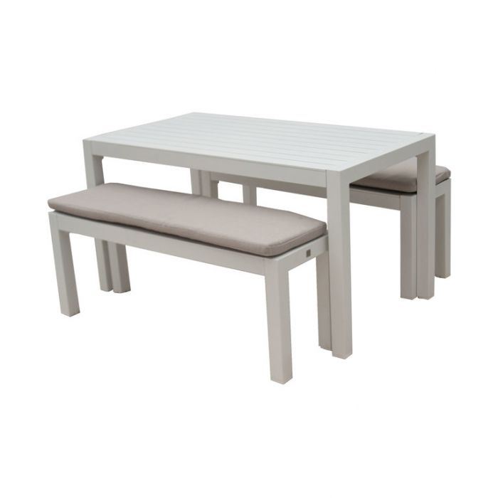 FP Collection Resort Outdoor Bench/Dining Setting  ] 177462 - Flower Power