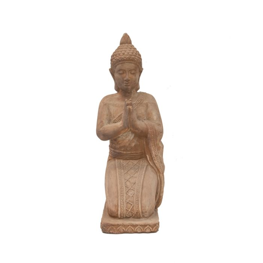 FP Collection Kneeling Buddha Garden Statue Terracotta  ] 177746 - Flower Power