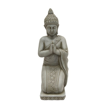 FP Collection Buddha Kneel Garden Statue Grey  ] 177747 - Flower Power