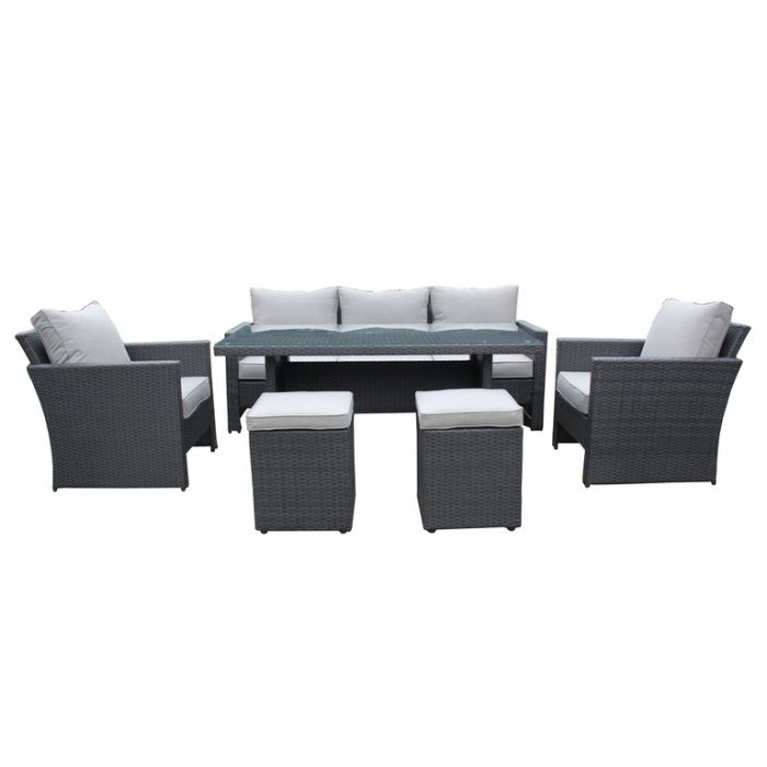 FP Collection Portico Outdoor Lounge/Dining Setting  ] 177894 - Flower Power
