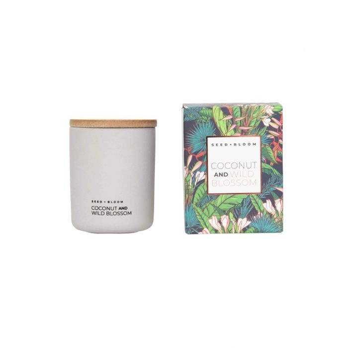FP Collection Seed+Bloom Coconut & Wild Blossom Candle  ] 178764P - Flower Power