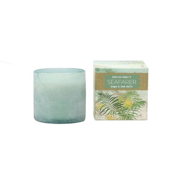 FP Collection South Sea Candle Co Seafarer Seaglass Candle  ] 180301 - Flower Power