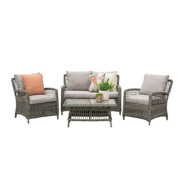 FP Collection Oakland Outdoor 4 Seater Lounge Setting  ] 181475 - Flower Power
