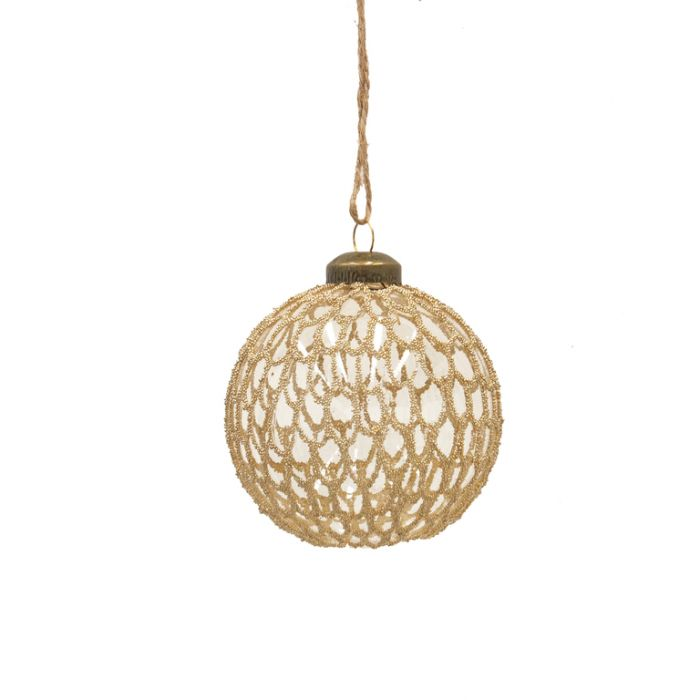 FP Collection Christmas Hanging Glass Ornament Gatsby  ] 181482 - Flower Power