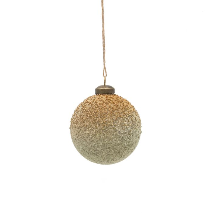 FP Collection Christmas Hanging Glass Ornament Gold Dust  ] 181486 - Flower Power