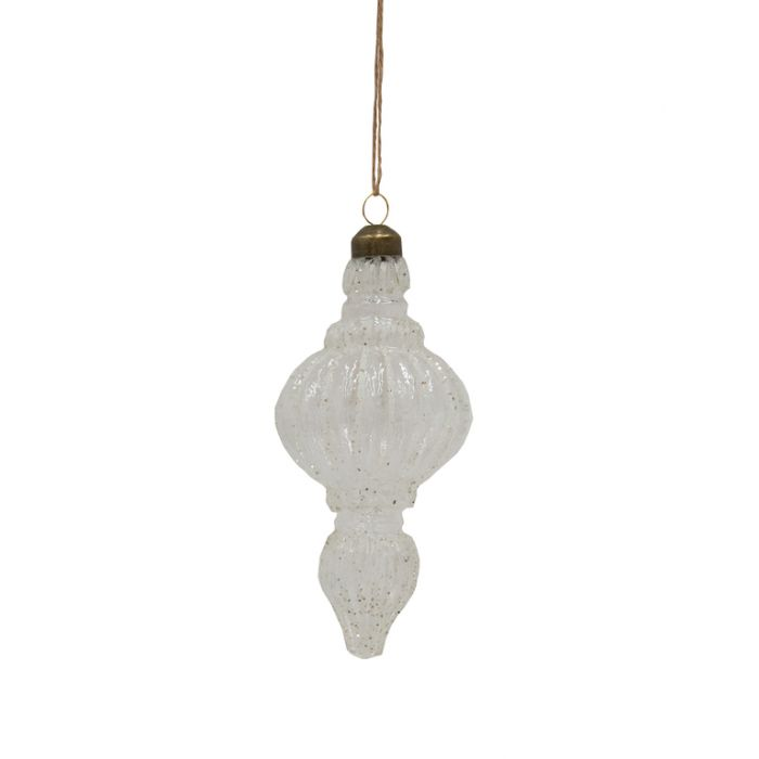 FP Collection Christmas Hanging Glass Ornament Glacier  ] 181495 - Flower Power