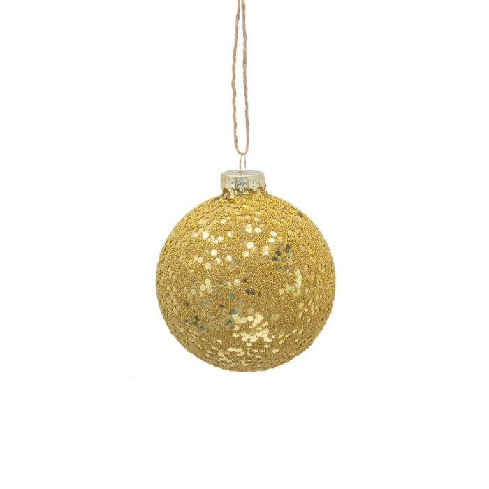 FP Collection Christmas Hanging Bauble Glomesh Gold  ] 181498 - Flower Power
