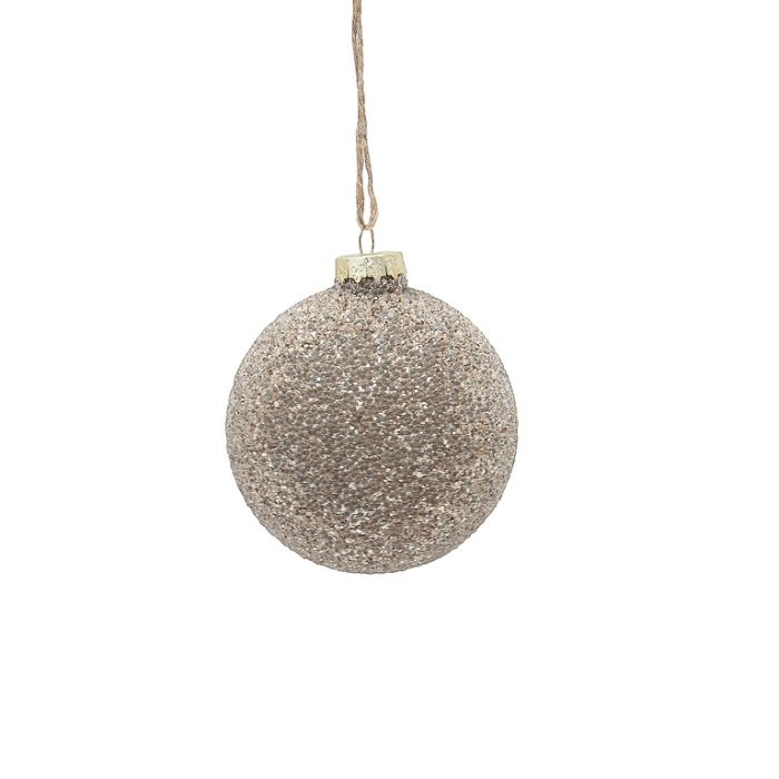 FP Collection Christmas Hanging Bauble Metallic Champagne  ] 181500 - Flower Power