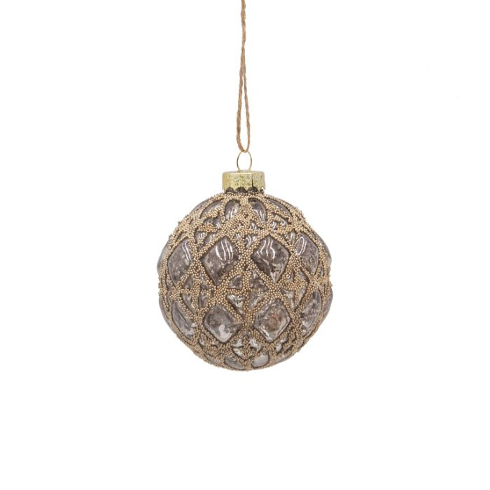 FP Collection Christmas Hanging Bauble Luxe Champagne  ] 181504 - Flower Power