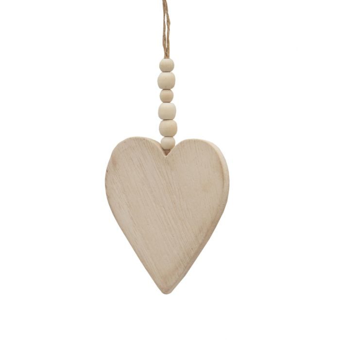 FP Collection Christmas Hanging Ornament Timber Heart  ] 181506 - Flower Power