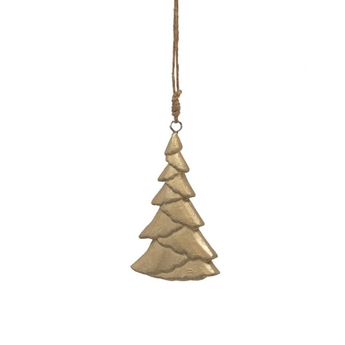 FP Collection Christmas Hanging Ornament Timber Tree Gold  ] 181508 - Flower Power