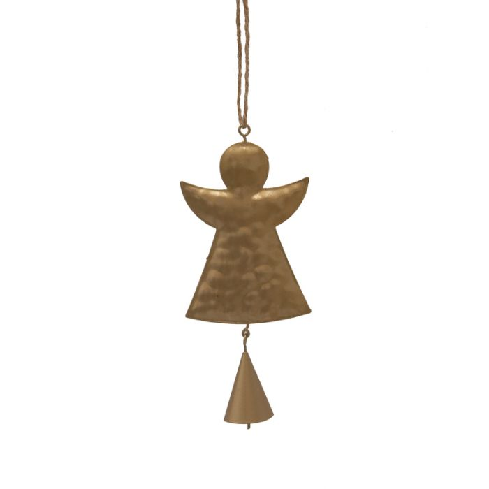 FP Collection Christmas Hanging Ornament Metal Angel Gold  ] 181510 - Flower Power