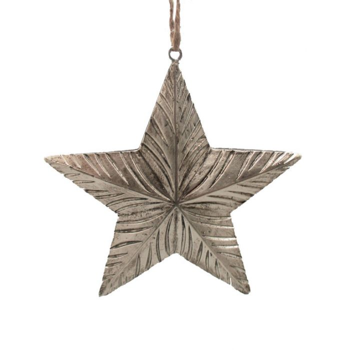 FP Collection Christmas Hanging Ornament Star Champagne  ] 181513 - Flower Power