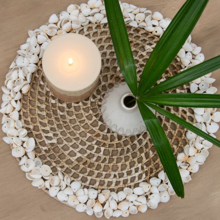 FP Collection Maldives Placemat White Shell  ] 181579 - Flower Power