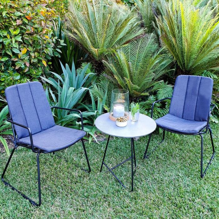FP COLLECTION MANHATTAN OUTDOOR 2 SEATER BALCONY SETTING  ] 181610 - Flower Power