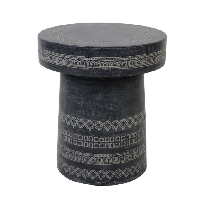 FP Collection Marbella Stool Charcoal  ] 182069 - Flower Power