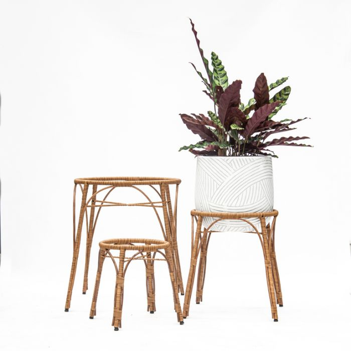 FP Collection Santa Fe Planter Stand Natural  ] 182159P - Flower Power