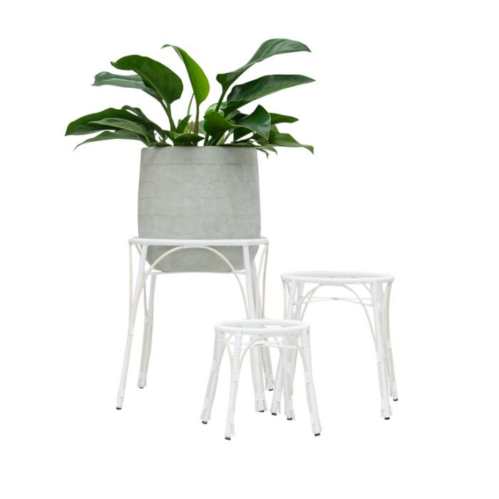 FP Collection Santa Fe Planter Stand White  ] 182163P - Flower Power