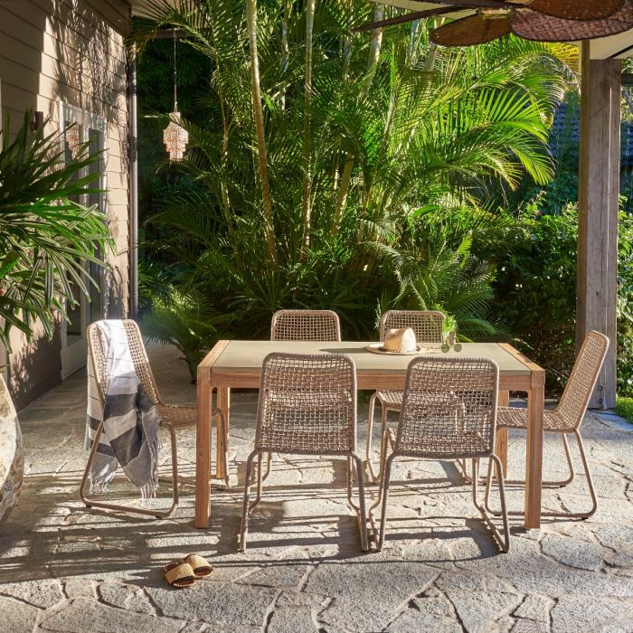 FP COLLECTION ARUBA OUTDOOR DINING CHAIR TAUPE  ] 182172 - Flower Power