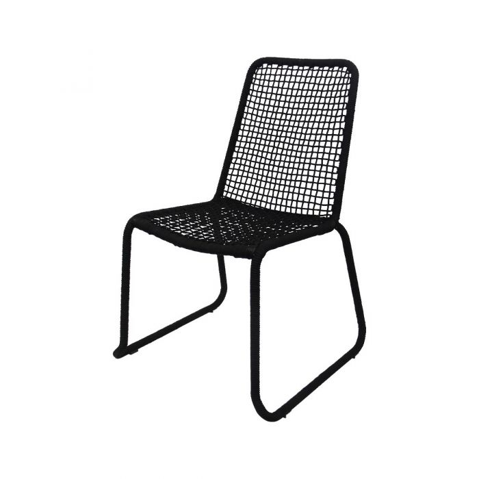 FP COLLECTION ARUBA OUTDOOR DINING CHAIR BLACK  ] 182173 - Flower Power