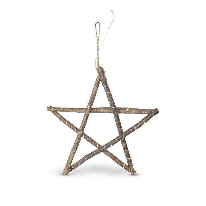 Christmas Timber Stick Star Natural  ] 183130 - Flower Power