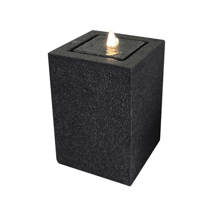 Fountain Cuboid Black  ] 183653 - Flower Power