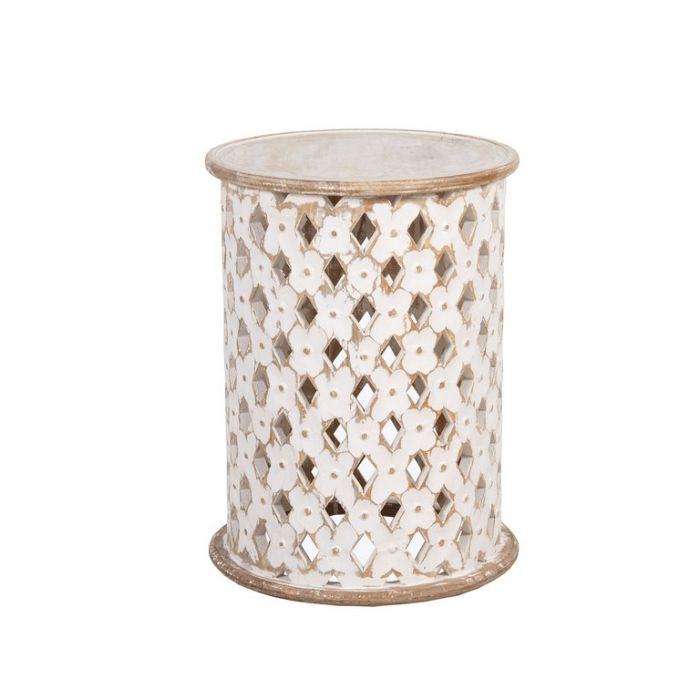 FP Collection Indra Side Table White  ] 184401 - Flower Power