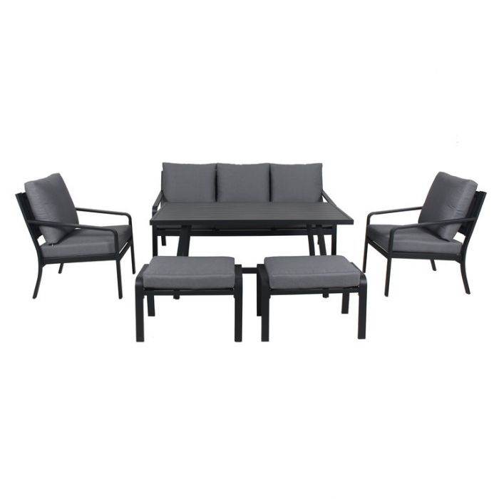 FP Collection Byron Outdoor Lounge/Dining Setting Charcoal  ] 184737 - Flower Power
