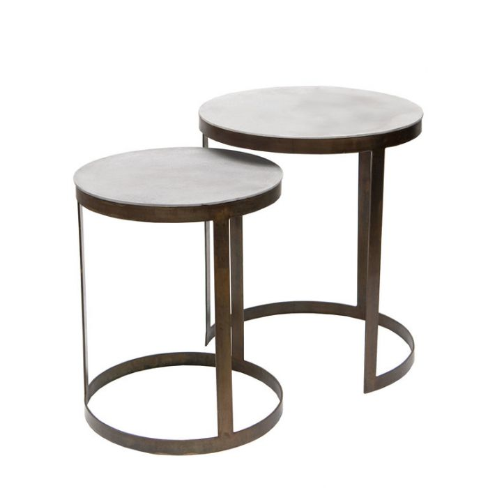 FP Collection Adina Side Table Cement  ] 184884P - Flower Power