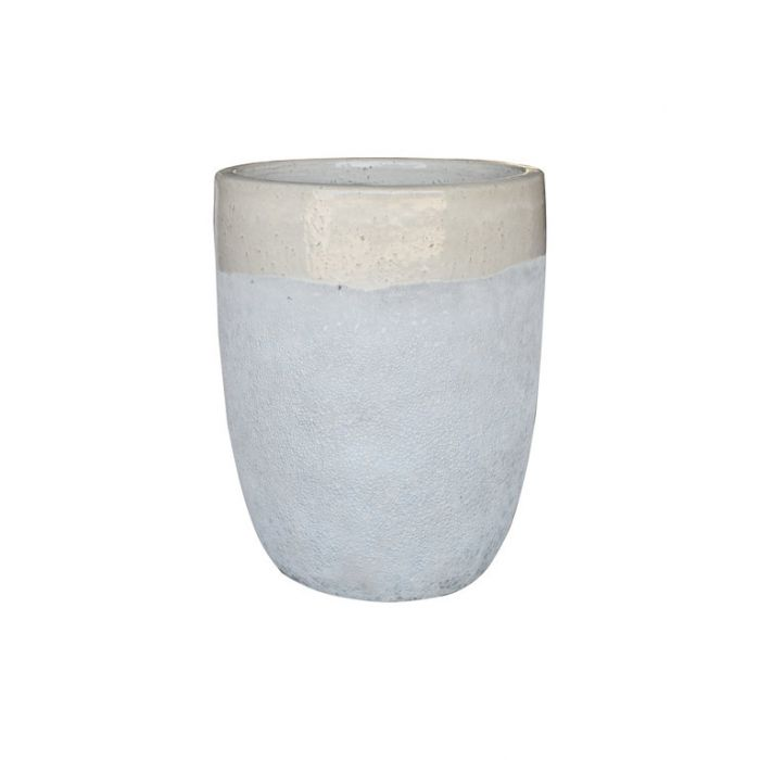 FP Collection Aspen Planter Tall Drum Ivory  ] 185113P - Flower Power