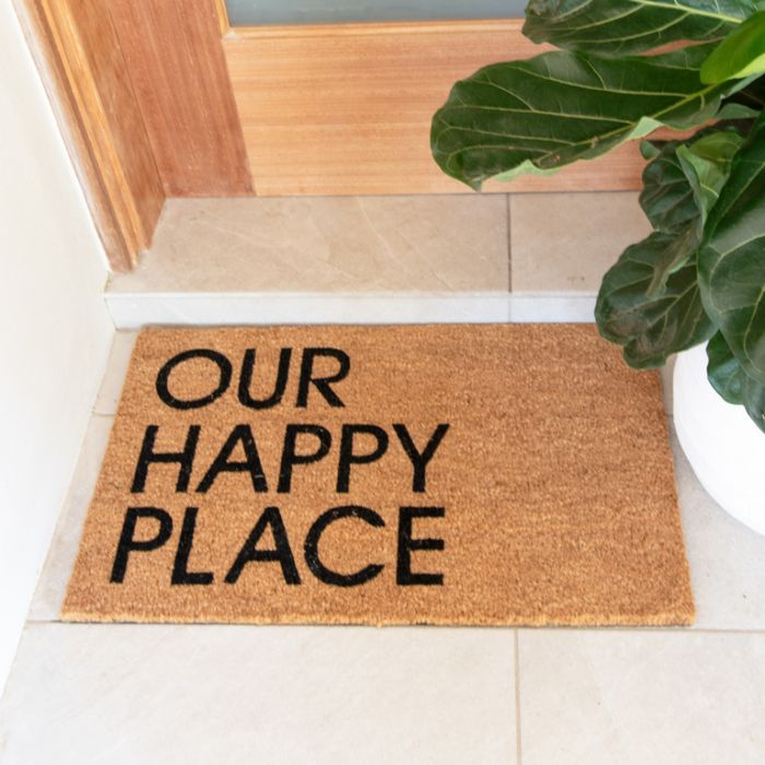 FP Collection Door Mat Our Happy Place  ] 187239 - Flower Power