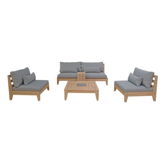 FP Collection Barossa Outdoor Lounge Setting Grey  ] 188171 - Flower Power