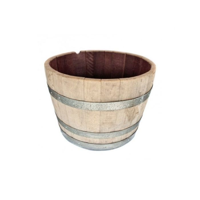 Wine Barrel Round Oak  ] 312500 - Flower Power